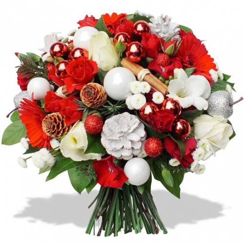 Image Fleur Noel.Fleurs En Fete Bouquet Joyeux Noel