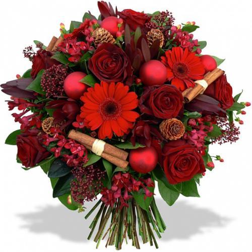 Fleurs En Fete Bouquet Tendresse De Noel Fleurea